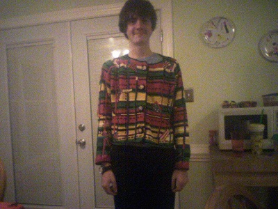 For some reason this sweater mysteriously disappeared shortly after I found it at Goodwill...